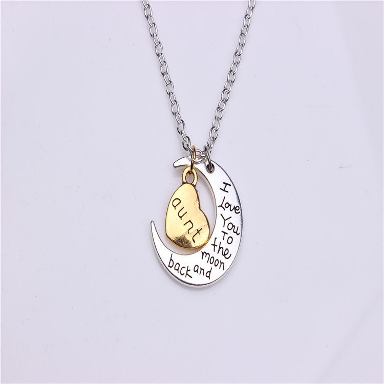 for aunt personalized charm sajolie love necklace the silver auntie niece is between and an gifts forever